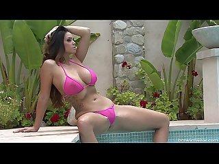 Amazing Busty Model in Micro Bikinis
