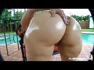 Big booty white Babe takes latin cock deep in her Ass