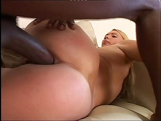Black Cock Monster & Blonde Girl - Anal Porn Video