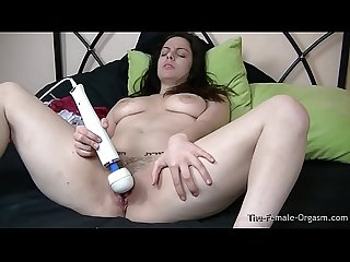 Sultry Femorg Babe with Fleshy Pussy and Big Tits Hitachi Orgasms
