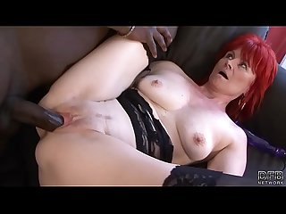 Mature lady interracial hardcore pussy fucked and swallows black man cum