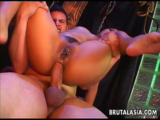 Fantastic asian memserizer getting her ass ripped apart