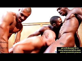 Ebony cock in interracial group
