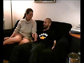 Amateur milf fucked on sofa