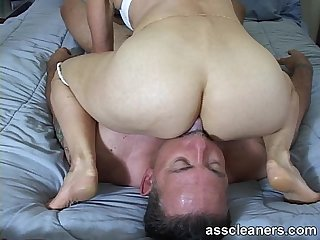 In a sixty nine position for ass munching and cock sucking