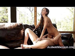 Lesbian eats masseuse