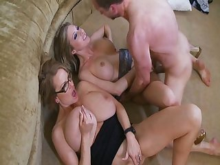Horny guy balling his Busty Wife and Hot Girlfriend