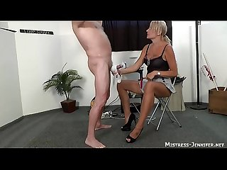 Triple terror from 3 mistresses on one male slave