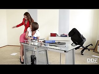 Dominant Boss Brandy Smile Analyzes submissive Tina Hot