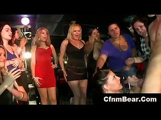 Cfnm party babe jizzed by stripper at cfnm club