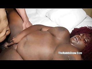 bbc newbie simone blaque takes monster bbc redzilla