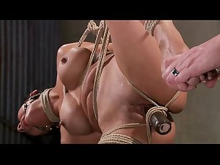 Bound bdsm slave toy punishment