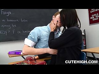 Lustful classmate giving head and laid