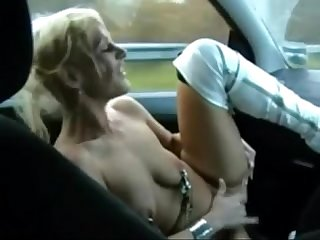 Welsh milf gets naked and fingers her pussy in a moving car boobsandtits Co uk