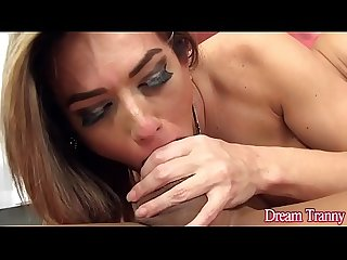 Luscious shemale sa fontenelle takes a stiff cock up her butt hole