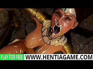 3d hentia girl face fucked monster cock