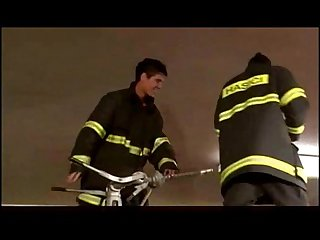 Hardcore horny firemen in hot pumping scene