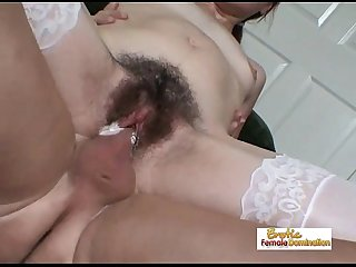Teen slut Alexia gets her hairy pussy drilled really hard