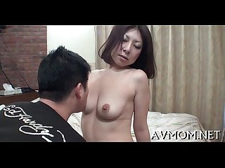 Milf asian doxy and three cocks