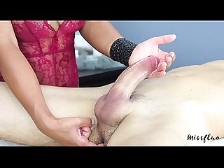 Missfluo edging and throbbing creampie