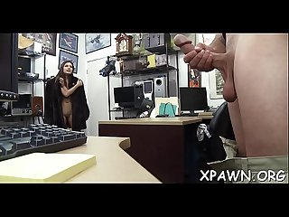 Daring woman has sex in shop