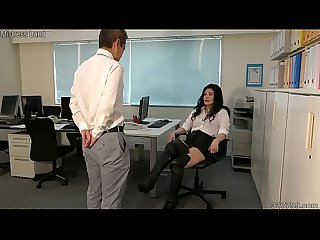 Japanese Female President and Ass Man Employee