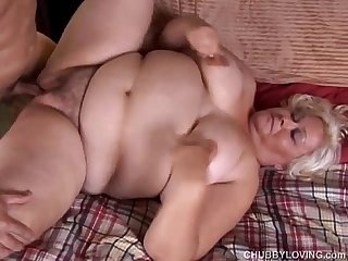 Big beautiful blonde bbw gets blasted with cum