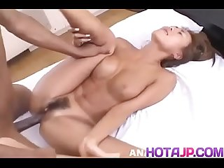 Big facial reward for stunning Mari Amamiya after sucking and fucking - More at hotajp com