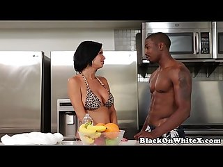 Interracial analized milf riding stepsons BBC