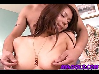 Megu Ayase sexy Asian gal enjoys plenty of banging and blowjob
