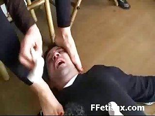 Kinky foot fetish dom love