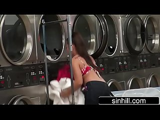 Couple of exhsibisionists caught on cam fucking in laundry morgan lee