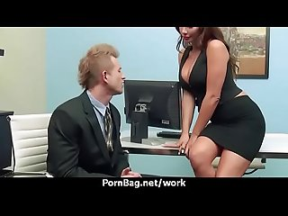 Busty chick is desperate for a raise and fucks her boss and earn it 9