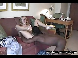 Deep creampie for white pussy from black cock - http://amateurcammers.com