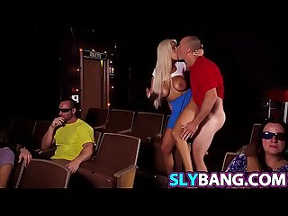 Sneaky With Busty Bridgette B In The Movies