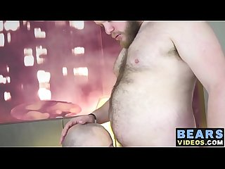 Hairy fuck buddies Matty Bear and Michael Baron go crazy