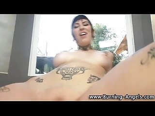 Watch tattooed goth cutie