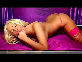 Horny Blonde Lolly telephone sex in pink lingerie