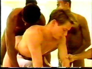 Gay interracial 6 Latino and black studs gangbang lit