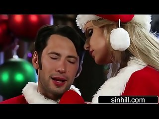 Santa claus and mrs claus phoenix marie have hardcore sex