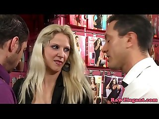 Threeway euro babe analized for shoplifting
