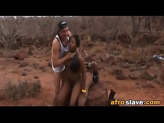 African girl is tied and fed to fuck horny and violent menedit ass 3 2