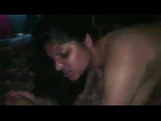 Desi mummy fucked by his son and his friend in night at her bedroom