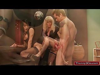 Trannies joanna jet and jordon jay in a threesome with a guy