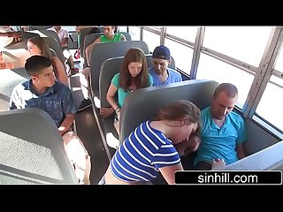 Naughty students Fuck in the School bus maddy o reilly
