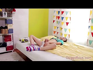 Teen boy anal play with gorgeous johnny nightwill