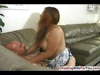 Busty wife get pounded by neighbor