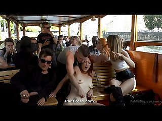 PublicDisgrace - Hot Redhead Gets Fisted and Fucked in the Ass on a Crowded Party Boat2