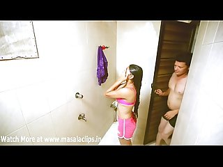 Hot young girl romance in bathroom video
