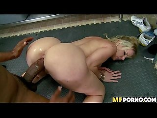 Blonde mommy swallows huge black dick anita blue 3